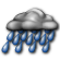 Mostly Cloudy with Heavy Rain